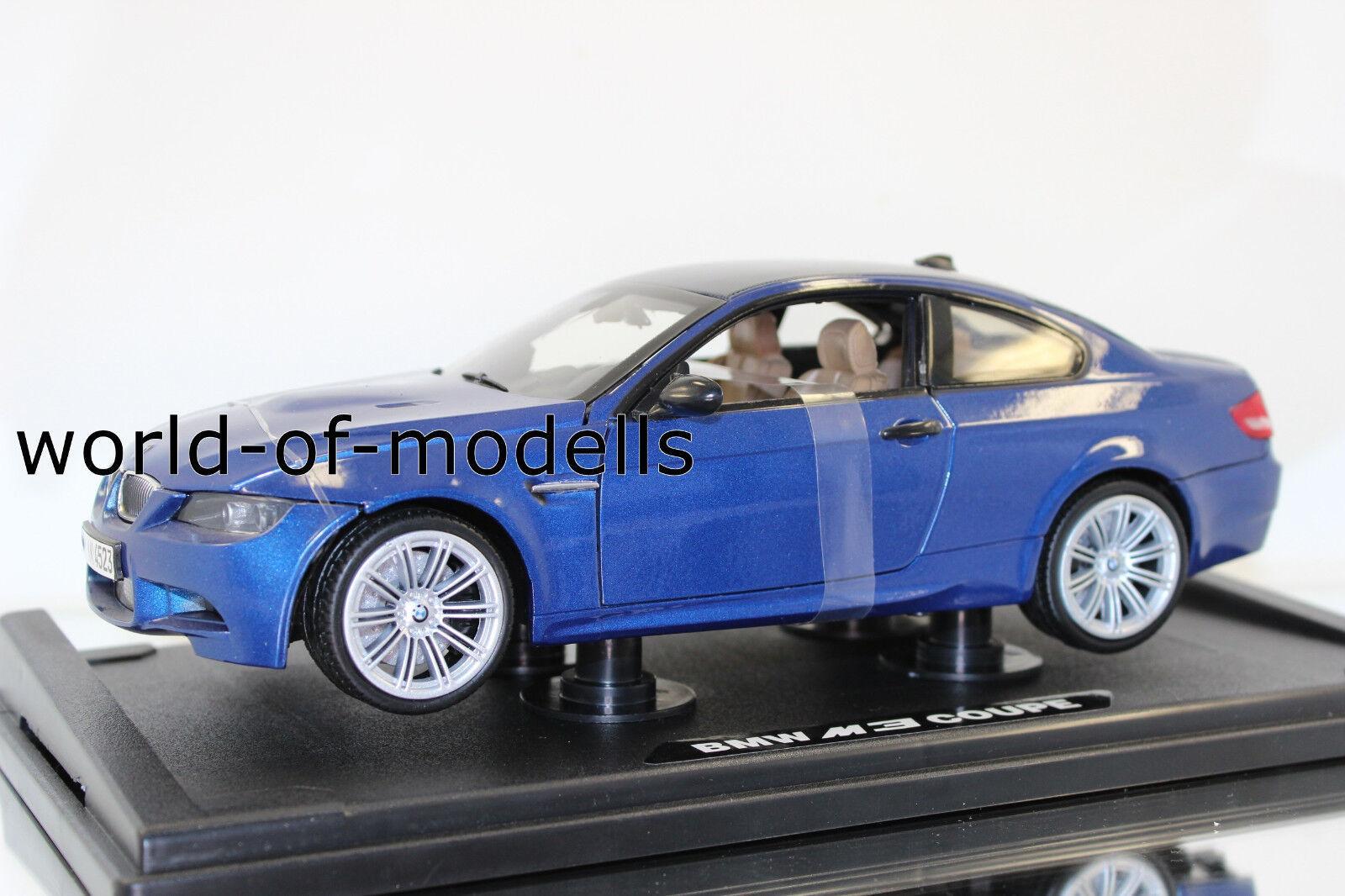 MotorMax 73182 BL BMW m3 Coupe 2008 e92 1 18 nouveau en OVP