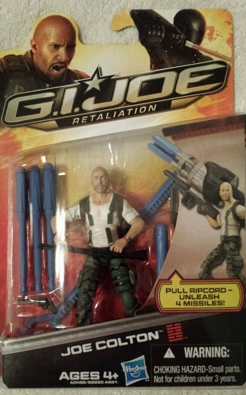GI JOE Retaliation JOE COLTON  action figures Pull Rip cord Unleash 4 Missiles