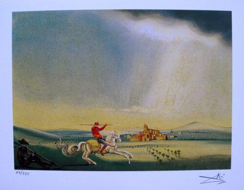 Salvador Dali SAINT GEORGE Facsimile Signed Limited Edition Art Giclee