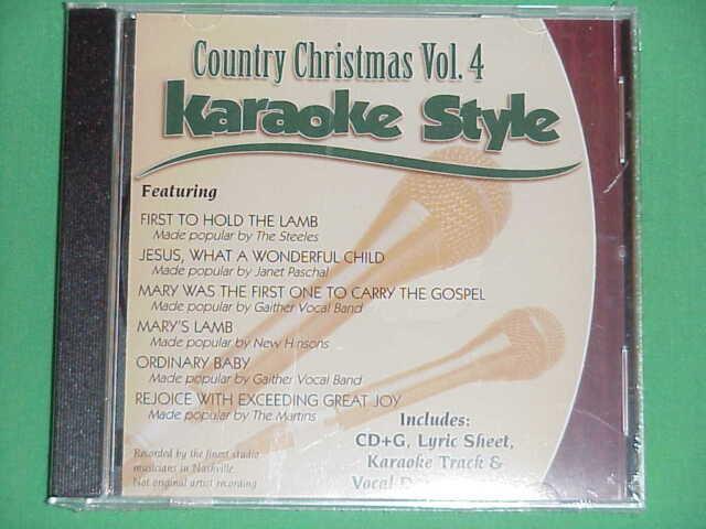 Karaoke Entertainment Country Love Songs Volume 4 Christian Karaoke Style New Cd+g Daywind 6 Songs