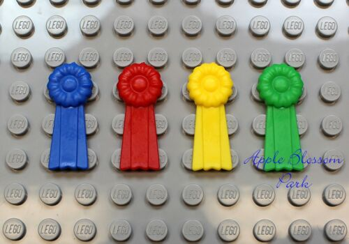 NEW Lego Belville 4 Minifig AWARD RIBBONS Blue Red Yellow Green 1st 2nd 3rd 4th