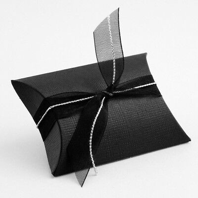 Pack of 10 Silver Silk Wedding Party Favour Gift Boxes