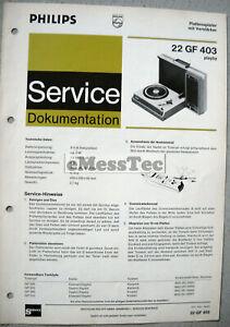 Philips GF 403 Plattenspieler Service Manual Ausgabe 12/71