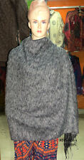 Sh2 Acrylic yak wool winter grey soft warm wrap shawl scarf stole throw Nepal