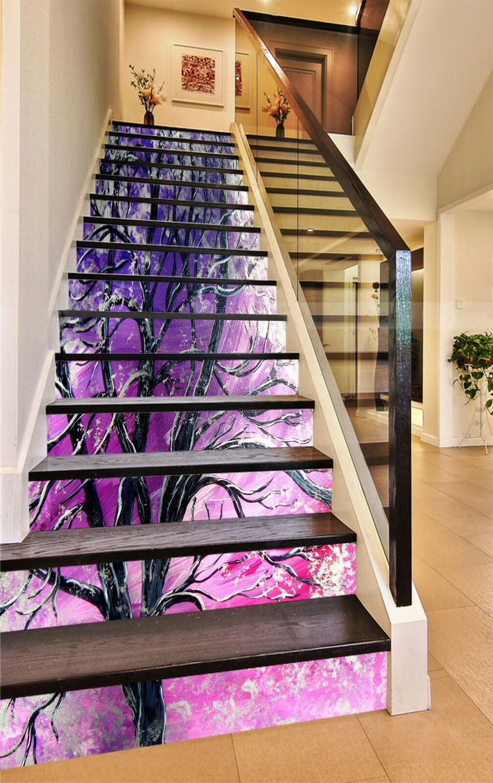 3D Branches Stair Risers Decoration Photo Mural Vinyl Decal Wallpaper CA