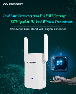 1200Mbps-2-4-5G-DualBand-WLAN-Repeater-Router-Wireless-Extender-Signalverstaerker