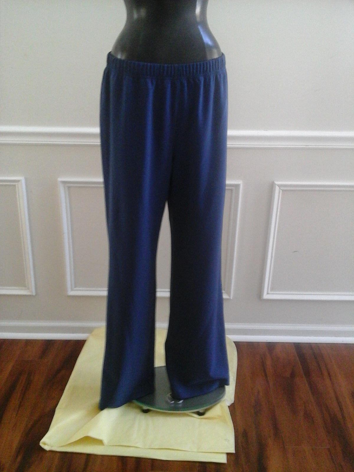 NEW ST.JOHN DRESS PANTS (MARINE)  blueE,  SZ - L