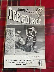 Harringay Arena Ice Hockey Programme 23/10/1957
