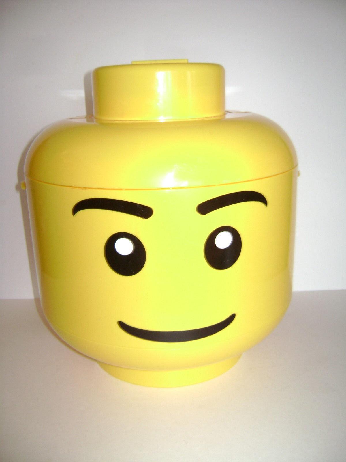 LEGO 2010 Sort & Store Big Gelb Storage Head Bin with Grids RETIrot VERY RARE
