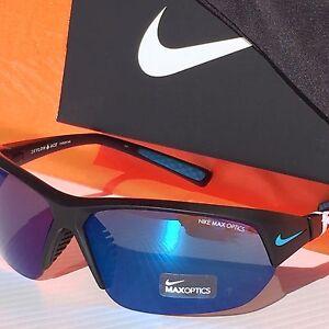 ff9741252d08 NEW* NIKE Matte Black w Blue Mirror Lens SKYLON ACE Sunglass EVO525 ...