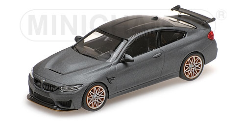 Minichamps 410025220 -  BMW M4 GTS – 2016 – MATT grau W  Orange WHEELS  | Clever und praktisch