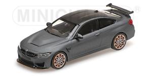 Minichamps 410025220 -  BMW M4 GTS – 2016 – MATT GREY W  orange WHEELS