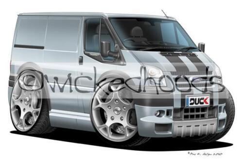 WickedHoods Cartoon Car Hoodie Ford Transit MK7 Sportvan Sweatshirt
