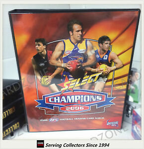 AFL TRADING CARD OFFICIAL ALBUM--2006 Select AFL Champions Trading Card Album