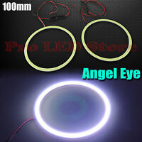 2x Angel Eyes Cob Halo Ring White 100mm Led Light Headlight Fog Housing