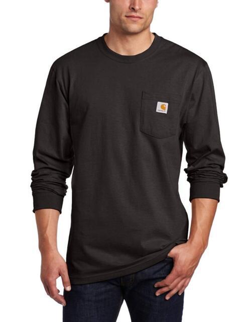 Carhartt Men/'s K126 Workwear Long Sleeve Pocket T-Shirt 3XL Multiple Colors NEW!