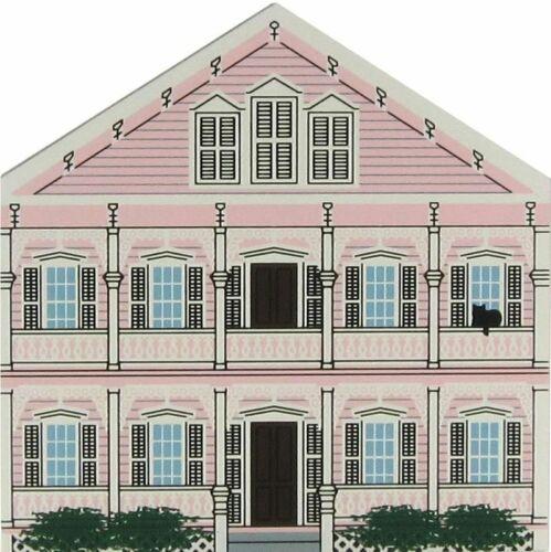 Cat/'s Meow Village Key West Florida Keepsake Pink House #5984 NEW SHIP DISC