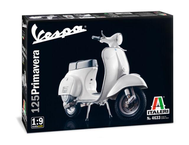 Vespa 125 Primavera Piaggio 1:9 Plástico Modelo Kit Italeri