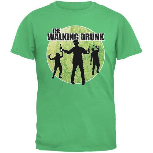 Patricks Day-the walking drunk vert irlandais adulte T-Shirt St