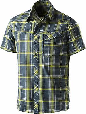 Mckinley Herren Freizeithemd Wanderhemd Karo-hemd Milson Blau-gelb Durchsichtig In Sicht