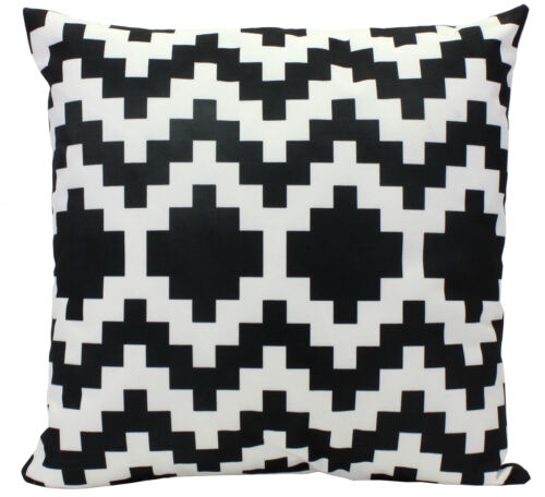 Outdoor Coussin Noir Blanc A Motifs 45x45cm Deco Motif Moderne Jardin Terrasse
