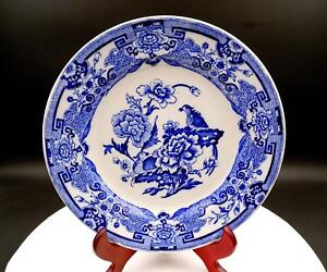 FLOW-BLUE-ENGLAND-PORCELAIN-BIRDS-AND-CHRYSANTHEMUMS-9-1-2-034-PLATE