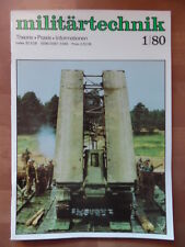 MILITÄRTECHNIK 1/1980 Brückenlegepanzer Raketenschnellboot S143 Panzertransport