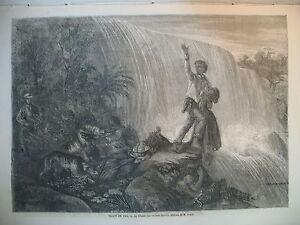 AMERIQUE-CHASSE-AUX-ESCLAVES-FUGITIFS-TONKIN-PRISE-DE-MYTHO-MARINE-GRAVURES-1861