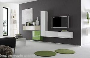 Parete Attrezzata Zona Giorno Box 6 Porta TV Soggiorno Moderno ...
