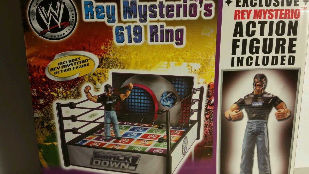 WWE REY MYSTERIO'S 619 RING & REY MYSTERIO ACTION FIGURE INCLUDED(026)