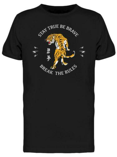 Image by Shutterstock Japanese Style Tiger Tee Men/'s