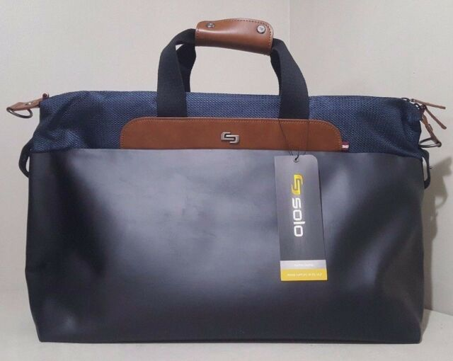 Solo Montauk Duffel Bag With Laptop And Tablet Protection Navy New