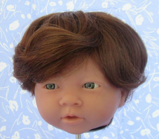 BOB Brown Curly Doll Wig Full Cap Size 12 NOS, Boy or Girl, Baby Toddler, Etc