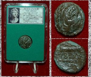 Ancient-Greek-Coin-Of-ALEXANDER-THE-GREAT-Head-Of-HERAKLES-Bow-Case-And-Club