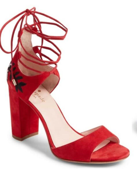 a64e9707b8c Frequently bought together. Kate Spade Size Oasis Red Suede Women s High Heels  Lace Up ...