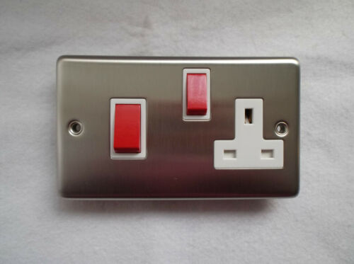 Switched Socket S//Steel  by B.G. 45 Amp Cooker Switch