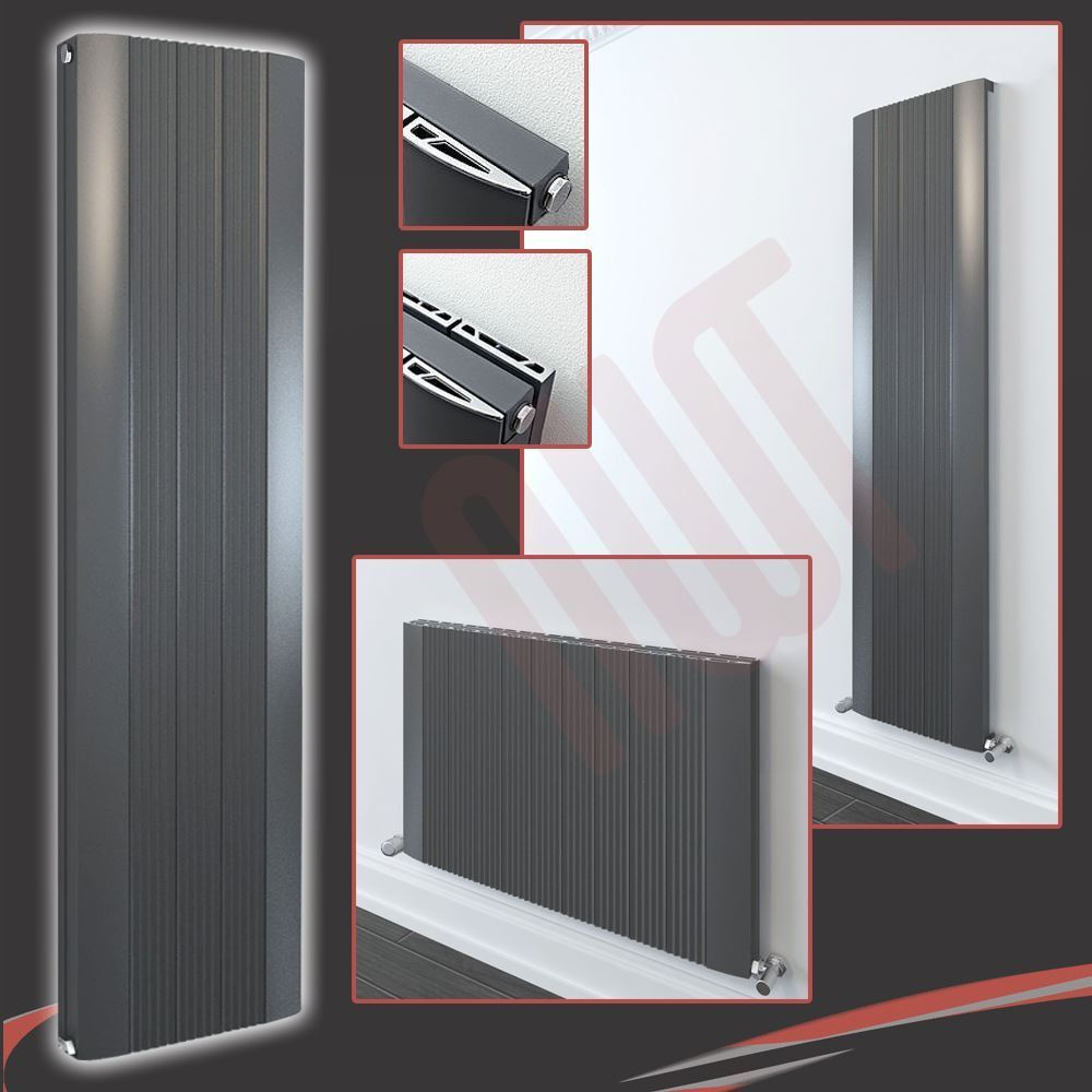HIGH BTU  Aluminium Designer  Cariad  Anthracite Grünical & Horizontal Radiators