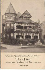 Niagara-Falls-New-York-Postcard-PINE-GABLES-Boarding-House-616-Pine-Ave-1940