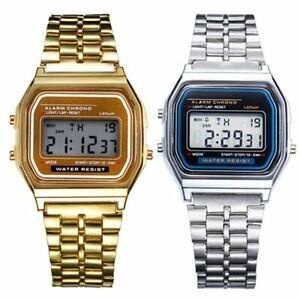 Women-Men-Unisex-Stainless-Steel-Wristwatches-Electronic-Digital-Watches