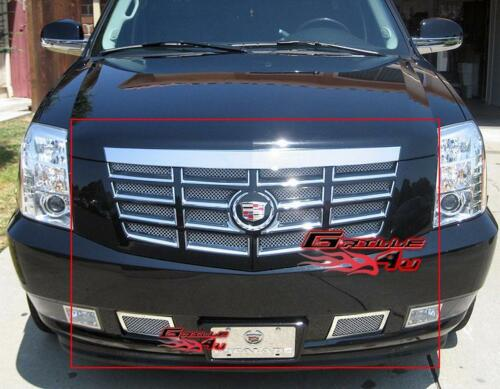 Fits 2007-2013 Cadillac Escalade Stainless Mesh Grille Combo 08 09 10 11 12
