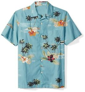 New-Mens-Hawaii-Retro-Hawaiian-shirts-Floral-Short-sleeve-Casual-Button-GD218