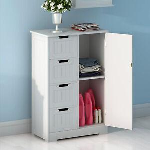 4-Drawer-Bathroom-Cabinet-Storage-Unit-Wooden-Chest-Cupboard-White-Door-Draw-UK