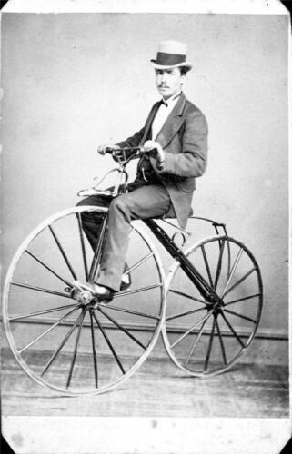 Photo Velocipede Bicycle 1869-71 Australia