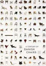 A Century of Danish Chairs Poster feat: Charles Eames Conran Wegner Habitat