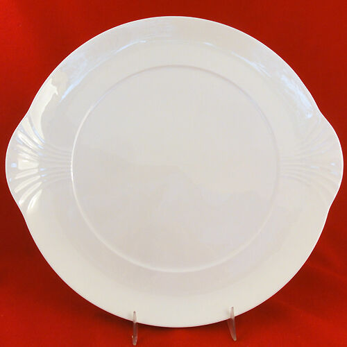 "Villeroy & Boch ARCO WEISS WHITE CAKE PLATE 12"" Bone China NEW"
