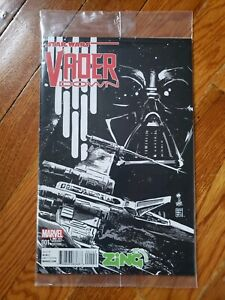 Star-Wars-Darth-Vader-Down-1-Zing-Variant-B-amp-W-Marvel-Comics-2016-RARE-Sealed