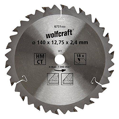 Wolfcraft 6731000 1 Kreissägeblatt HM ø 140 mm 18 Zähne