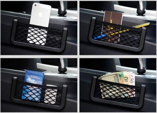 UNIVERSAL CAR SEAT SIDE BACK NET STORAGE BAG PHONE HOLDER POCKET ORGANIZE 15X8cm