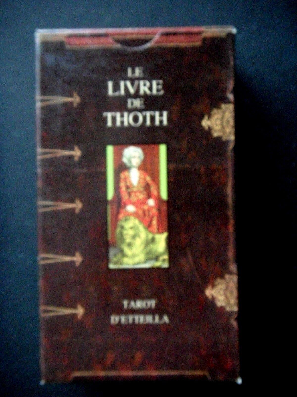 LE LE LE LIVRE DE THOTH TArouge D'ETTEILLA    - EDITIONS LO SCARABEO - 78 CARTES  LIVRET d65a8b