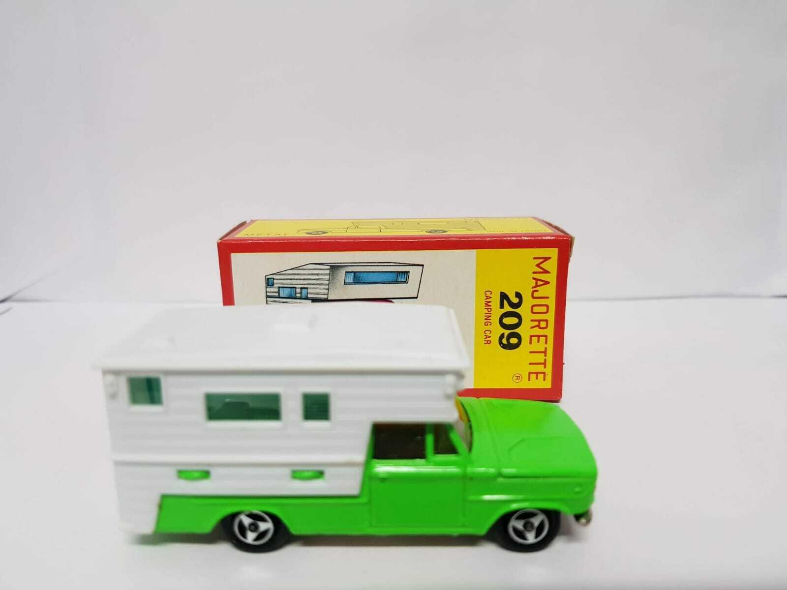 Nuevo viejo stock Vintage Majorette 209 Dodge Pick-up camping coche 1 80 en caja de papel-Francia